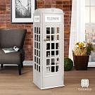 Hampton電話亭置物櫃-白36x36x114cm