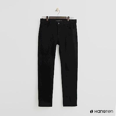 Hang Ten - 男裝 -微彈合身長褲 - 黑