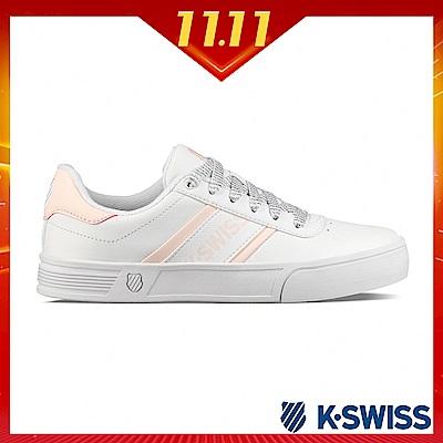 K-SWISS Court Lite Spellout休閒運動鞋-女-白/粉紅