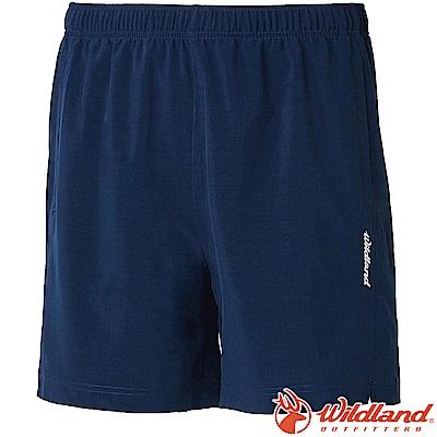 Wildland 荒野 W1506-72深藍色 男四彈抗UV休閒運動短褲