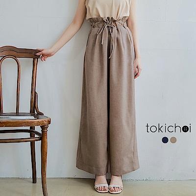 東京著衣 慵懶休閒綁帶花苞寬褲-S.M.L(共兩色)