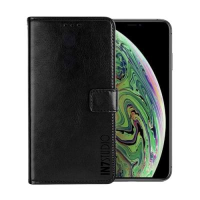 IN7 瘋馬紋 iPhone X/XS (5.8吋) 錢包式 磁扣側掀PU皮套 吊飾孔 手機皮套保護殼