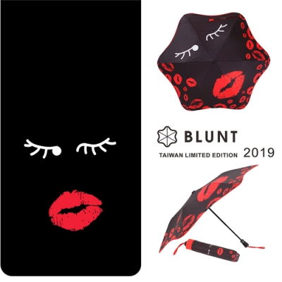 【BLUNT】2019 台灣區限量版 圖騰  完全抗UV折傘 紅唇之夜