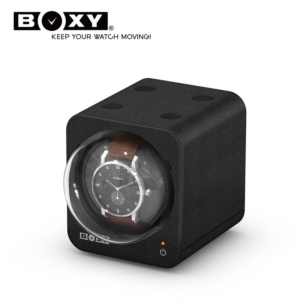 BOXY自動錶機械錶上鍊盒 Fancy Brick 皮革款-不含變壓器 winder