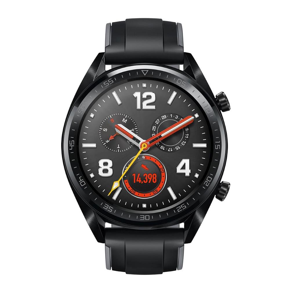 HUAWEI華為 Watch GT 運動智慧手錶 (曜石黑矽膠錶帶) 贈空氣清淨機+保溫杯+智能手環