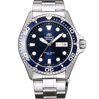 ORIENT東方200m潛水機械錶手錶-藍X銀/42mm