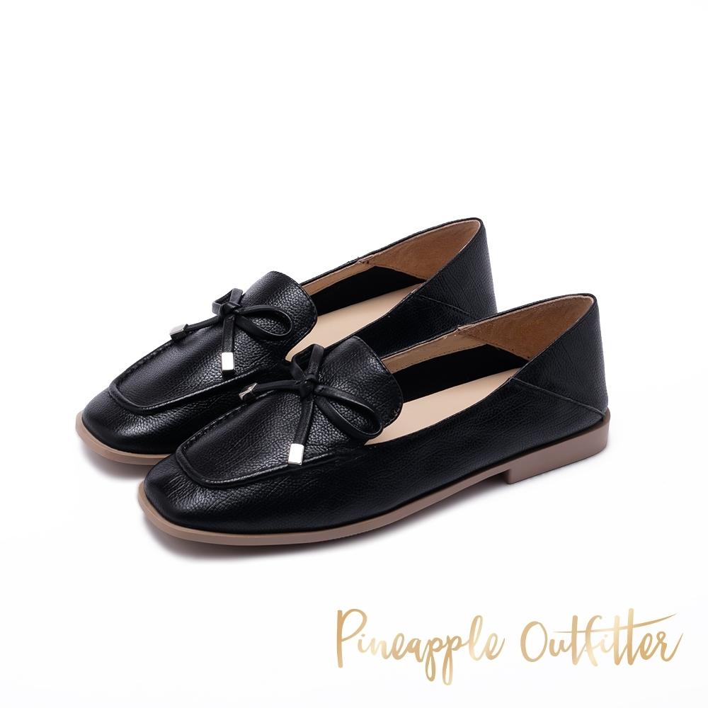 Pineapple Outfitter MAKAYLA 清新氣質蝴蝶結樂福鞋-黑色