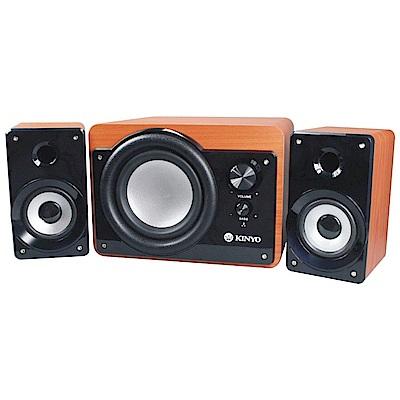 KINYO 三件式2.1聲道木質防磁擴大音箱 KY-7360送手機防水袋 @ Y!購物