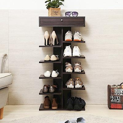 澄境 直立式6層便利收納鞋架/鞋櫃40x24x98-DIY