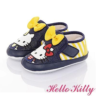 HelloKitty 雙胞胎系列 輕量減壓寶寶學步童鞋-藍黃
