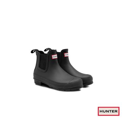 HUNTER - 女鞋-切爾西霧面踝靴 - 黑