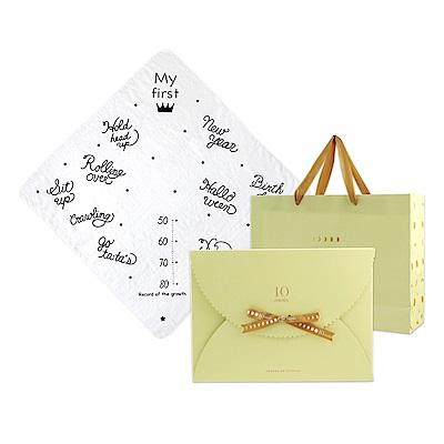 10mois 月桂冠成長紀念浴巾(禮盒包裝)