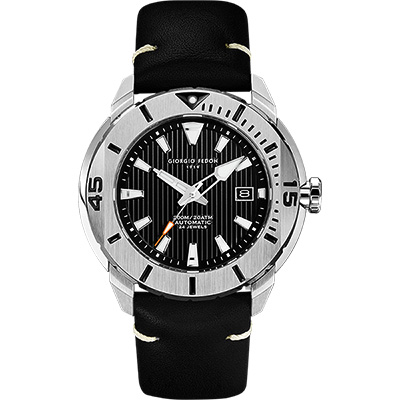 GIORGIO FEDON 1919 海洋系列200米機械錶-黑皮帶/47mm