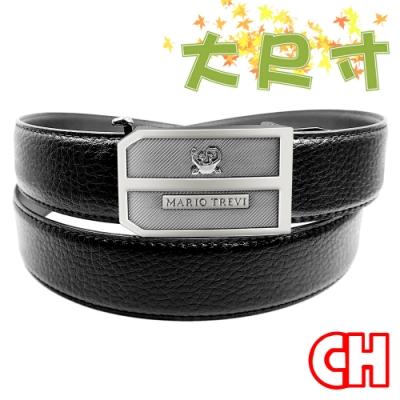 CH-BELT加長SIZE休閒自動扣設計皮帶腰帶(黑)