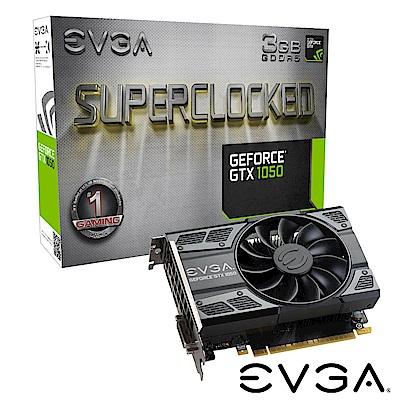艾維克EVGA GTX1050 3GB SC GAMING ACX2.0 PCI-E圖形卡