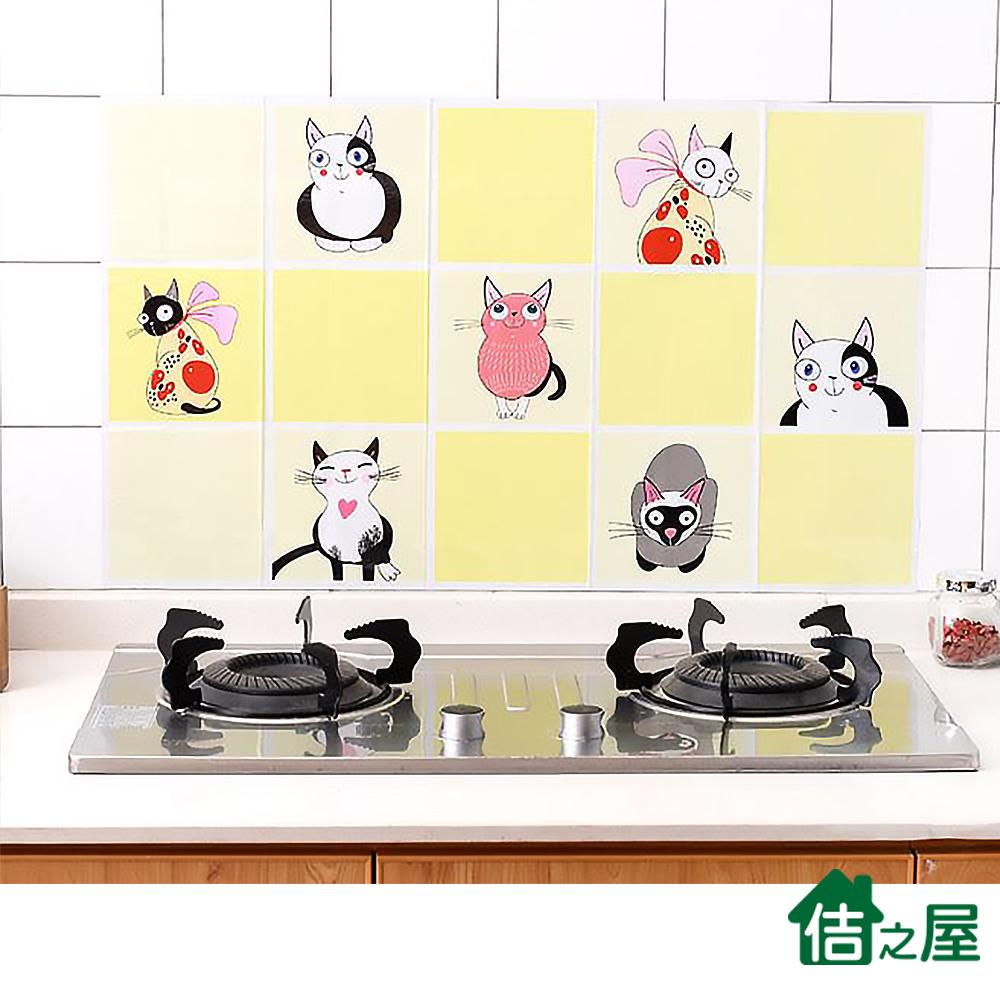 佶之屋  特厚彩色 廚房DIY自黏防油壁貼 45x75cm product image 1