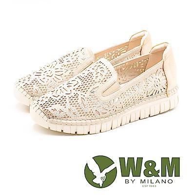 W&M (女)法系優雅 爬藤花朵鑲鑽休閒-金(另有黑)