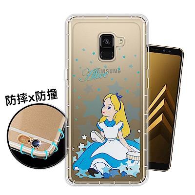 迪士尼 Samsung Galaxy A8 (2018) 星星系列 空壓手機殼(愛麗絲)