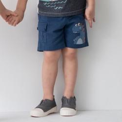 PIPPY可愛恐龍短褲 藍