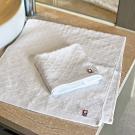 日本派迪 今治100%純綿七寶紋樣柔膚方巾+毛巾二入組