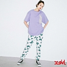 X-girl BUTTERFLY JOGGER PANTS休閒長褲-白