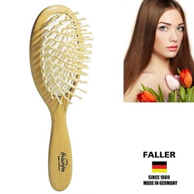 FALLER芙樂德國製FSC大尺寸橢圓圓珠櫸木氣墊木齒梳(一入)