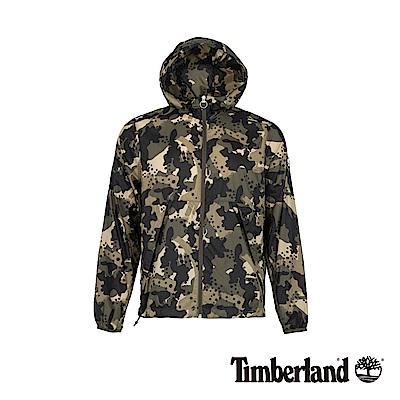 Timberland 男款迷彩軍綠可打包式夾克外套|A1Y8Y