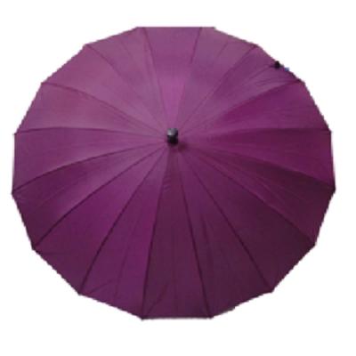 【台灣嚴選】紫色RA32009PH超大傘面抗風16骨直 柄長晴雨傘(傘面外徑136CM)