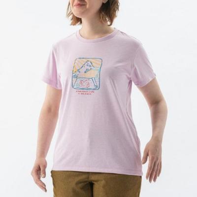 MILLET 女 HUGO PLANNING 排汗短袖T恤 粉紅-MIV017875623