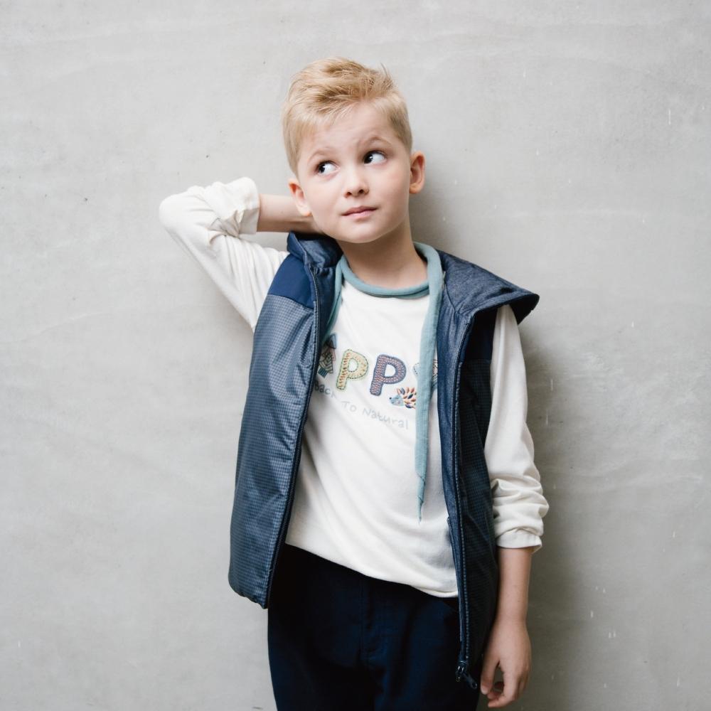 PIPPY 輕量鋪棉雙面穿背心 藍