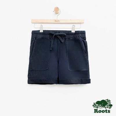 女裝Roots 平織口袋短褲-藍