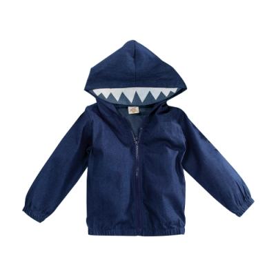 牛仔單層造型連帽外套 k61028 魔法Baby