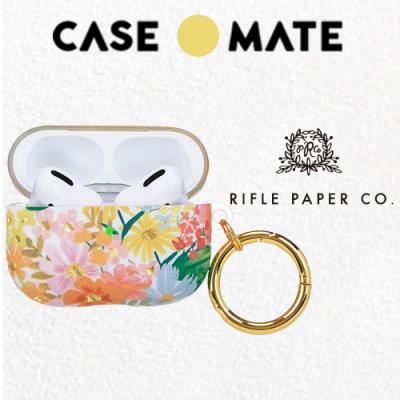 美國 CASE●MATE AirPods Pro 抗菌保護套 (贈扣夾) - Rifle Paper Co.聯名款 - 瑪格麗特