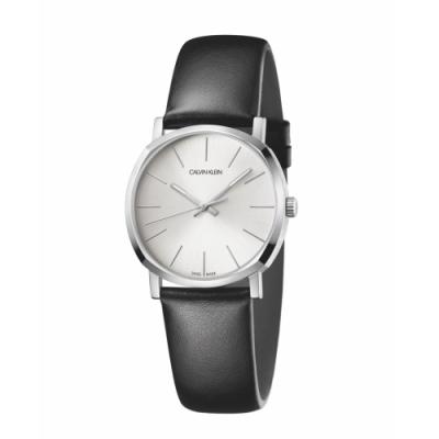 Calvin Klein CK極簡質感皮帶腕錶(K8Q331C6)32mm
