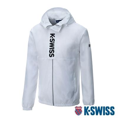 K-SWISS Mock Neck Jacket平襬運動外套-男-黑