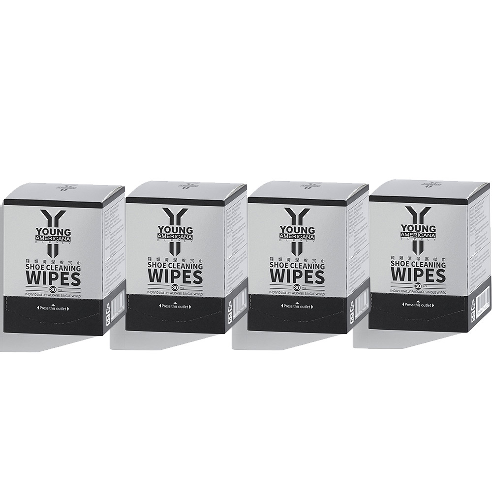 [團購_4入組] Y.A.S 美鞋神器 鞋類清潔擦拭巾-30片裝