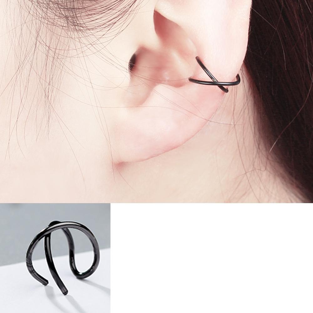 Hera 赫拉 簡約雙C型交叉耳夾/耳扣(2入組)-3色