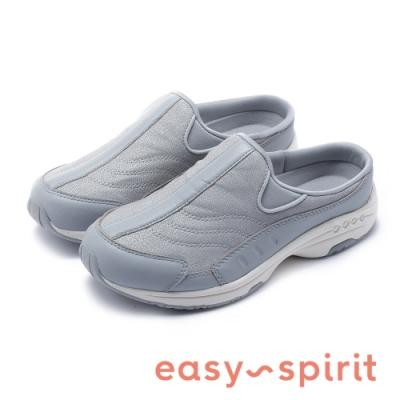 Easy Spirit-SETRAVELTIME234 美型輕量小羊皮包覆拖鞋-灰色