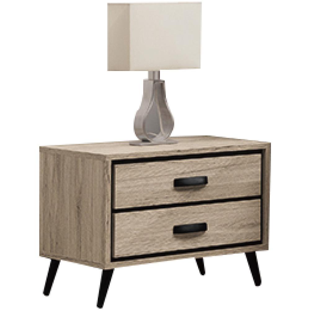 綠活居 利斯瑪時尚1.8尺木紋床頭櫃/收納櫃-55x40x45.4cm免組