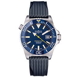 DAVOSA Argonautic BG 300米排氦氣潛水錶-湛藍x橡膠錶帶/42mm