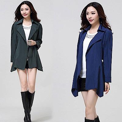 【韓國K.W.】文藝紛飛藍心防曬造型外套-2色