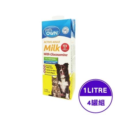 澳洲pets OWN Milk寵物專屬牛奶-貓狗通用型 1LITRE/33.8FL.OZ(4入組)