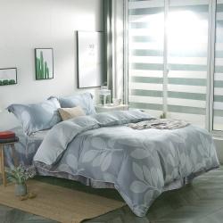 夢工場柔情餘韻40支紗萊賽爾天絲四件式鋪錦床罩組-特大
