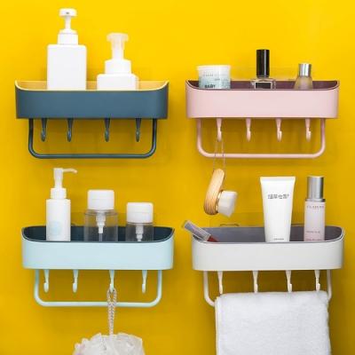 Redberry 廚浴 簡約風 瀝水收納置物架 瀝水架 掛勾設計 免打孔 4色系
