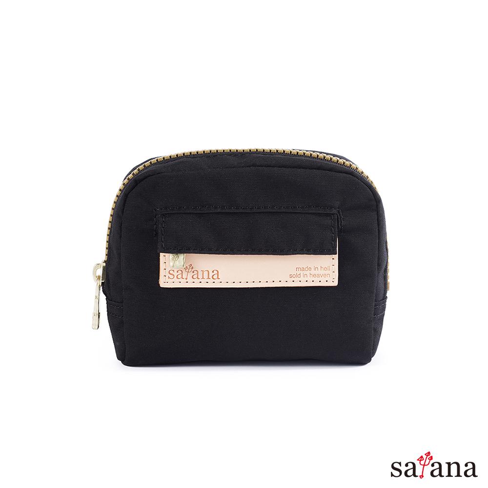 satana - 迷你隨身化妝包/零錢包 - 黑色