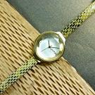 rumba time 紐約品牌 切割玻璃鏡面 日本機芯 蛇紋真皮手錶-金x黃綠/30mm