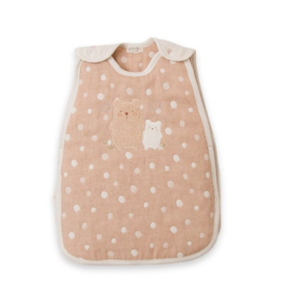 【Amorosa Mamma】有機棉嬰兒五重紗睡袋防踢被-小熊