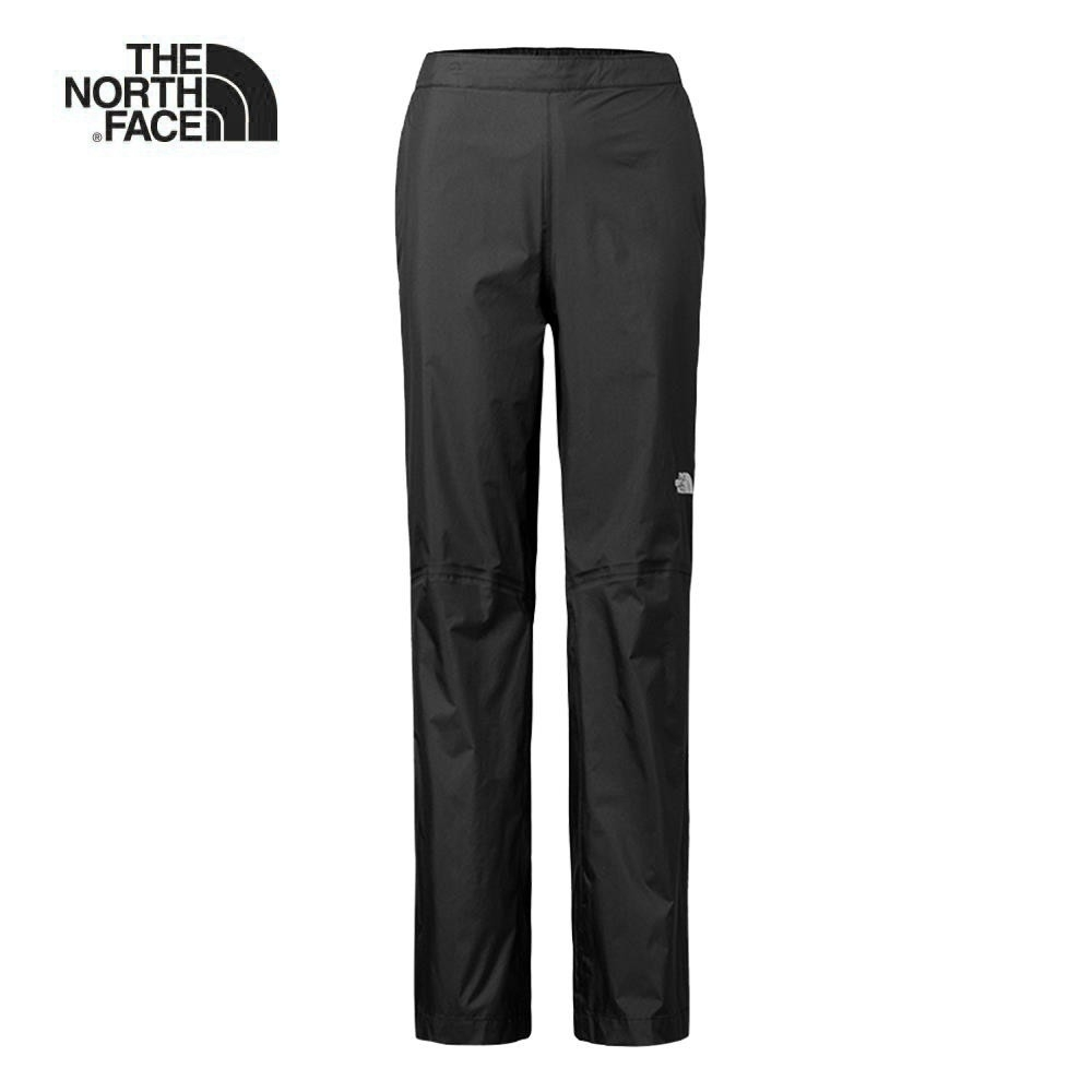 The North Face北面女款黑色防水透氣衝鋒褲 2XW3JK3