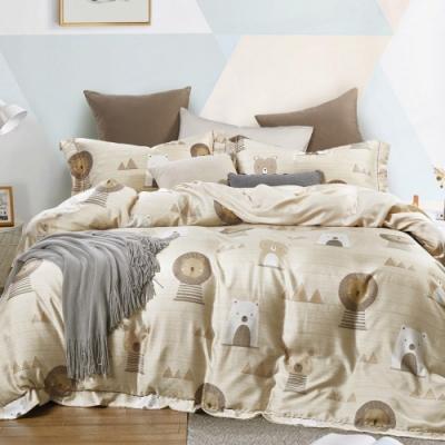 LAMINA 萌之熊 雙人100%天絲四件式兩用被套床包組