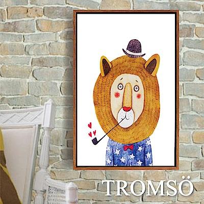 TROMSO北歐風尚板畫有框畫-獅子先生40X60CM